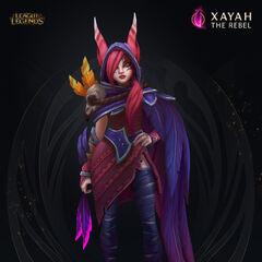Xayah Model 6 (by Riot Artist <a href=