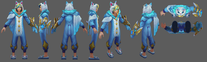 Ezreal Pyjamawächter model 02