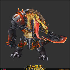 Scorched Earth Renekton Model 2 (by Riot Artist <a href=
