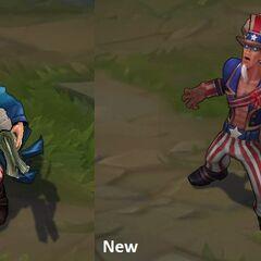 Porównanie starego i nowego modelu Wujka Ryze'a