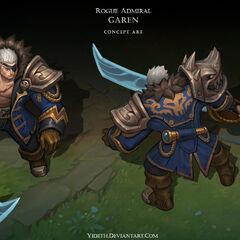 Rogue Admiral Garen Concept (by Riot Artist <a href=