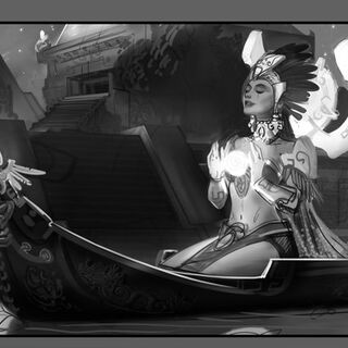 Sun Goddess Karma Update Splash Concept 2 (by Riot Artist <a href=