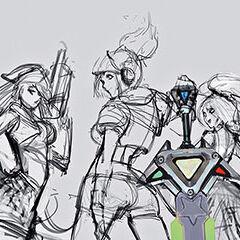 2 grafika konecepcyjna portretu Arcade