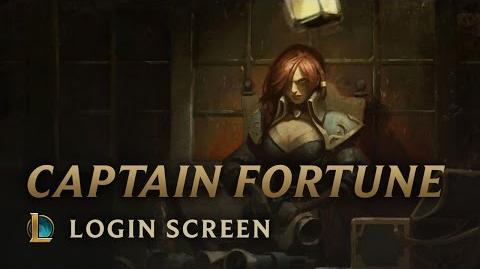 Captain Fortune - Login Screen