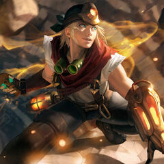 Explorer Ezreal Update Splash Concept 2 (by Riot Artist <a rel=