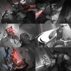 Blood Moon Pyke Splash Concept 2 (by Riot Artist <a href=