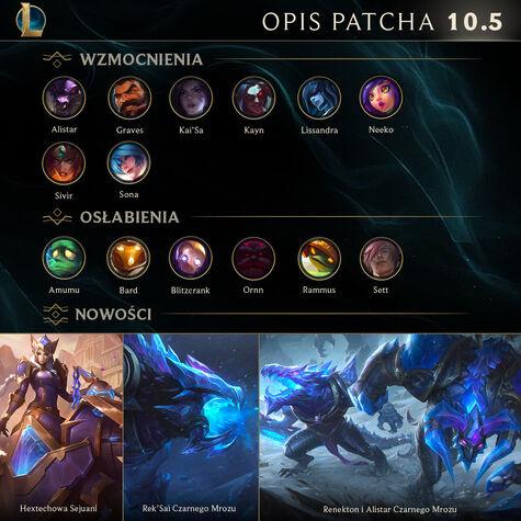 Opis patcha 10.5