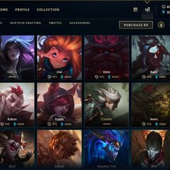 Champions store page <small>(Patch <a href=