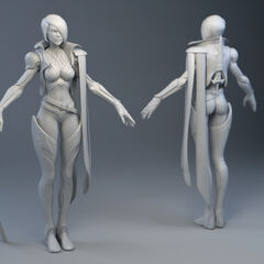 Fiora Model (by Riot Artist <a rel=