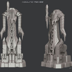 Howling Abyss turret concept art (by Riot Artist <a rel=