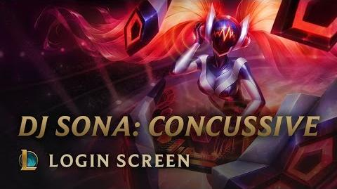 DJ Sona (Wstrząsająca) - ekran logowania