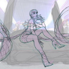 Concepto de la ilustración de Evelynn K/DA 1 (por el artista de Riot, <a class=