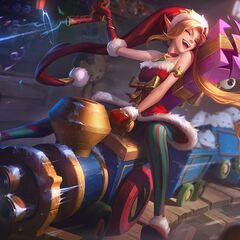 Poros in Ambitious Elf Jinx splash art (riding on the train)