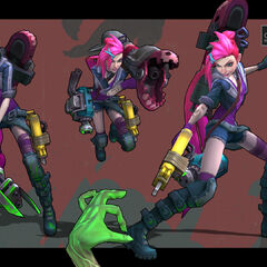 Zombie Slayer Jinx Model 3 (by Riot Artist <a href=