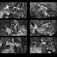Secret Agent Miss Fortune Update Splash Concept 1 (by Riot Artist <a class=