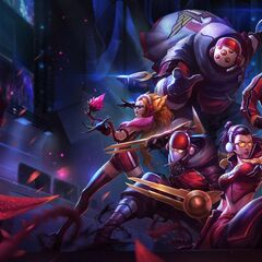 <small>SKT T1 Jax, Lee Sin, Vayne, Zed, and Zyra</small>