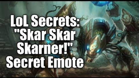 "LoL Secrets ""Skar Skar Skarner!"" Secret Emote - How To Get It"