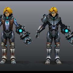 Pulsefire Ezreal Model 1 (by Riot Artist <a href=