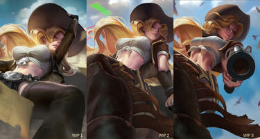 Miss Fortune Update Cowgirl- Splash Konzept 02