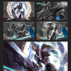 Pulsefire Riven Splash Concept 1 (by Riot Artist <a href=