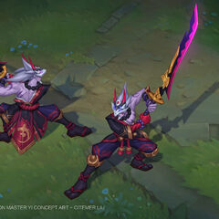 Blood Moon Master Yi Concept 1 (by Riot Artist <a href=