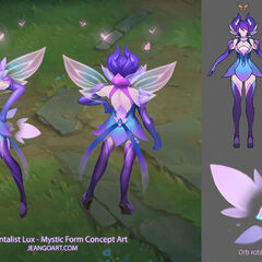 Elementalist Lux Mystic Concept (by Riot Artist Jean 'Curing' Go)