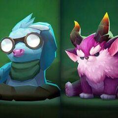 The six basic little legends design