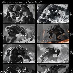Concepto de la ilustración de Alistar Conquistador 1 (por el artista de Riot <a class=