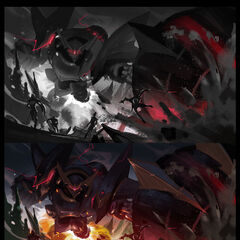 Lancer Rogue and Lancer Paragon Blitzcrank Splash Concept 1 (by Riot Artist <a href=