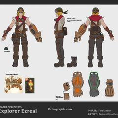 Explorer Ezreal Update Concept 1 (by Riot Artist <a rel=