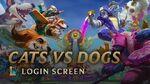 Koty VS Psy - ekran logowania