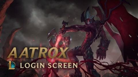 Aatrox, the Darkin Blade - Login Screen