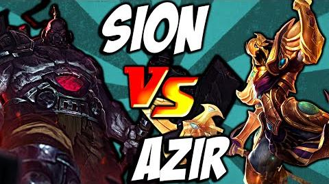 Cist1 Azir Ult vs Sion Ult - Emperor's Divide vs Unstoppable Onslaught lolclash