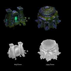 Summoner's Rift Architecture Models 1 (by Riot Artist <a rel=