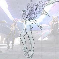 Concepto de la ilustración de Kai'Sa K/DA 1 (por el artista de Riot, <a class=