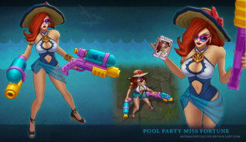 Miss Fortune Poolparty- model