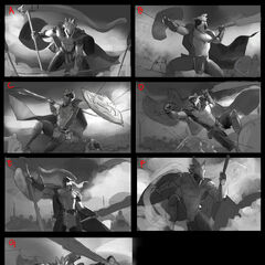 Glaive Warrior Pantheon Splash Concept 1 (by Riot Artist <a rel=