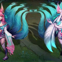 Spirit Blossom Ahri Concept 1 (by Riot Artist <a href=