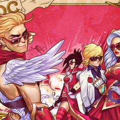Heartseeker Ashe, Varus and Vayne Valentines Day 2015 Card Promo 2 (by Riot Contracted Artist <a rel=