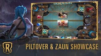 Piltover & Zaun Region Showcase Gameplay - Legends of Runeterra
