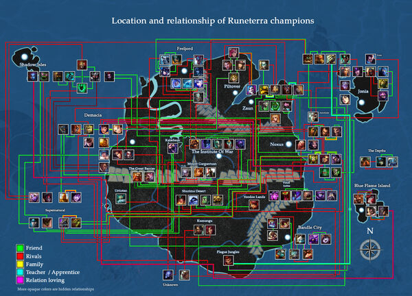 Map Of Runeterra Champions Relations League Of Legends