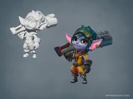 Tristana Update Raketenritt- model 01