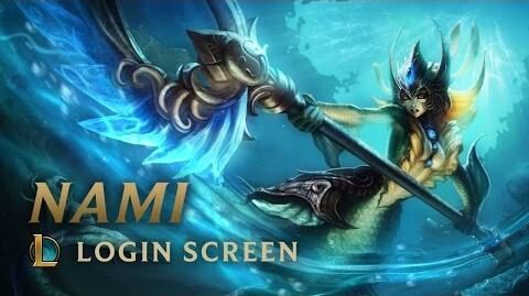 Nami, die Gezeitenruferin - Login Screen