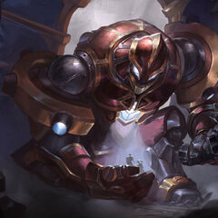 Hextech Galio Update Splash Concept 3 (by Riot Artist <a href=