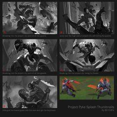 PROJECT: Pyke Splash Concept 1 (by Riot Artist <a href=