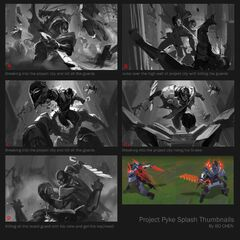 PROJECT: Pyke Splash Concept 1 (by Riot Artist <a href=