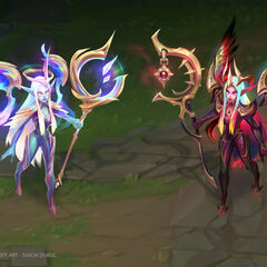 Dawnbringer and Nightbringer Soraka Concept 1 (by Riot Artist <a href=