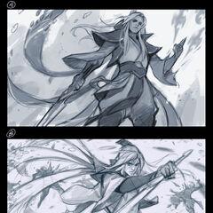 Enduring Sword Talon Splash Concept 1 (by Riot Artist <a href=