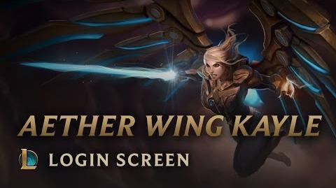 Kayle z Eterycznymi Skrzydłami - ekran logowania