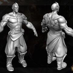 God Fist Lee Sin Model 3 (by Riot Artist <a rel=